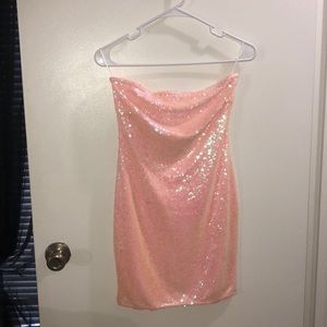 Strapless sparkly dress